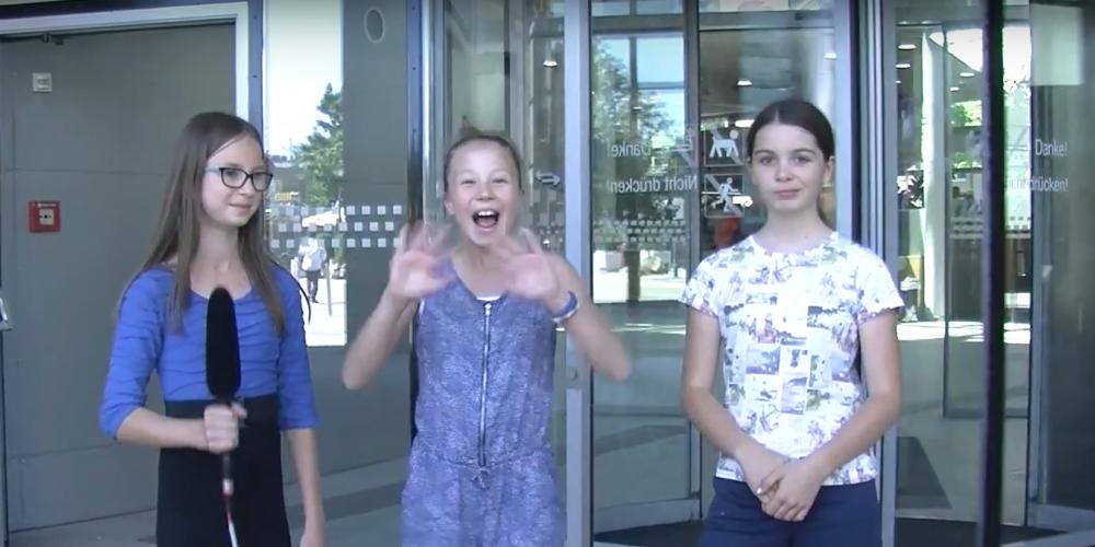 Das RG Lambach dreht einen School-TV-Beitrag über Fairtrade