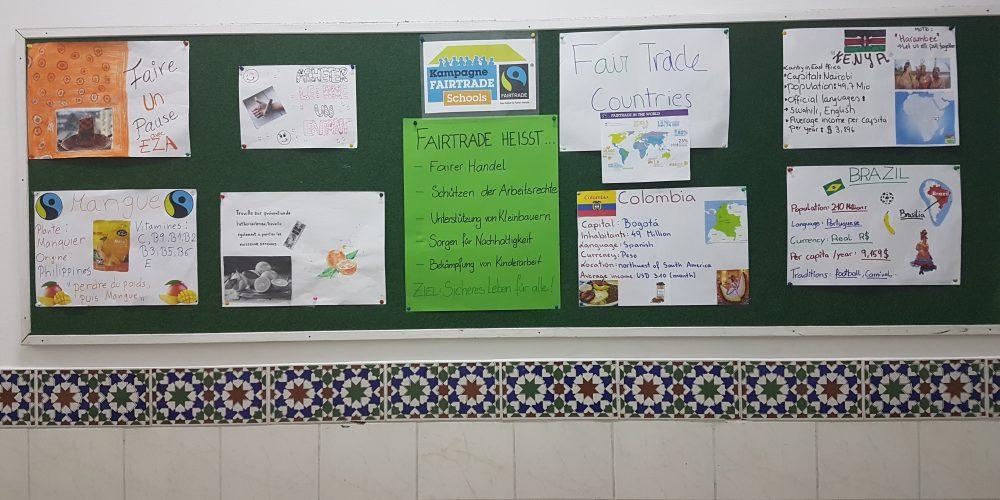 Wandausstellung zum Thema Fairtrade