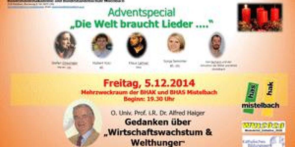 Adventspecial an der BHAK/BHAS Mistelbach 5.12. 2014